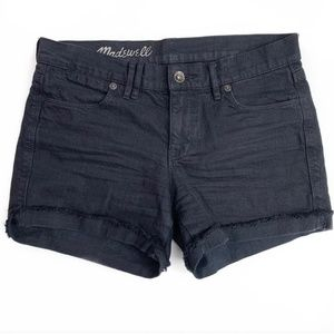 Madewell Black Cut-off Denim Shorts - size 25